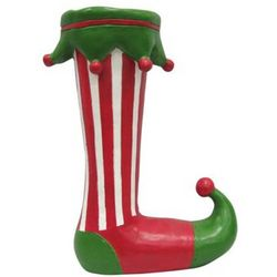 Elf's Red Holiday Boot Figurine