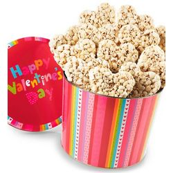 Happy Valentine's Day Popcorn Hearts