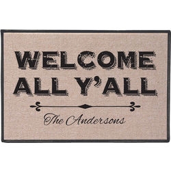 Non-Personalized Welcome All Y'All Doormat