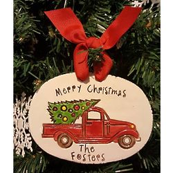 Personalized Country Family Christmas Plaque