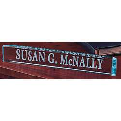 Personalized Director's Crystal Nameplate