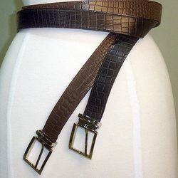 Leather Croc Money Belt