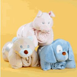 Cuddly Buddy Blanket and Pillow Set