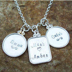 Sterling Family Heirloom Hand Stamped Necklace