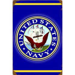 US Navy Metal Sign
