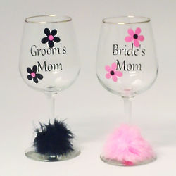 Mother of the Bride or Groom Wine Glass