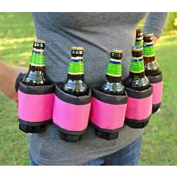 Deluxe Pink Six-Pack Beer Belt