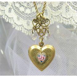 Heart Locket Chandelier Necklace