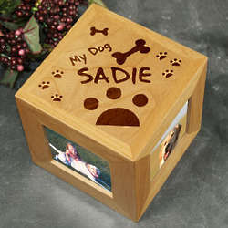 My Dog Engraved Photo Cube