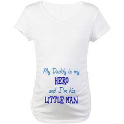 My Daddy is My Hero Maternity T-Shirt