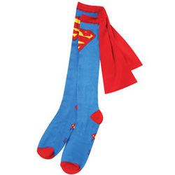 Superman Knee-High Cape Socks