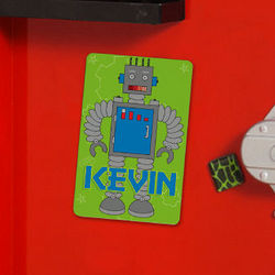 Personalized Robot Locker Magnet