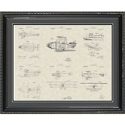 Glenn Curtiss Aircraft Framed Patent Art