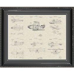 Glenn Curtiss Aircraft Framed Patent Art