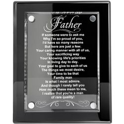 Father A Quality Man Engraved Quote Plaque