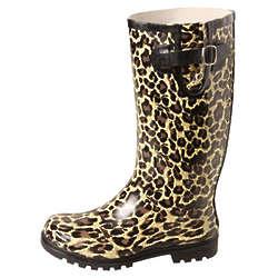 Women's Animal Print Rain Boots