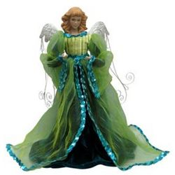 Christmas Evergreen Angel Figurine