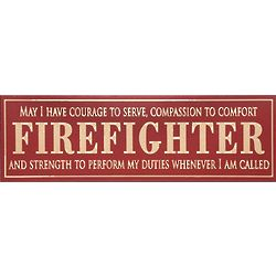 Firefighter Sentiment Wooden Plaque