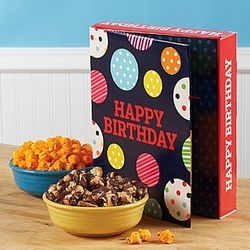 Large Happy Birthday Popcorn Card