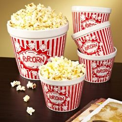 Movie Night Ceramic Popcorn Bowls