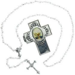 Sacramental Rosary with Hinged Cross Box
