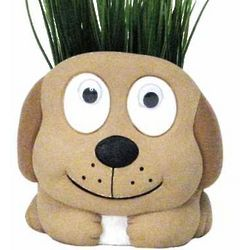 Paint Me and Plant Me Dog Planter