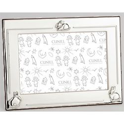 Personalized Three Bunny Silver Picture Frame