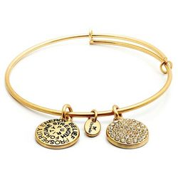 Crystal Birthstone Descriptive Bangle