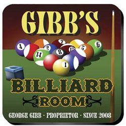 Personalized Billiards Coasters