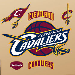 Cleveland Cavaliers NBA Logo Vinyl Wall Graphic Set
