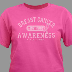 Breast Cancer Awareness Athletic Dept. T-Shirt