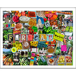 Farmers Market Madison Collage Art Print