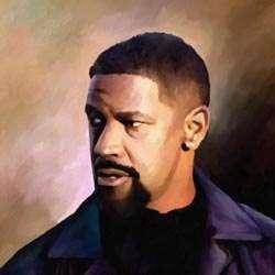 Denzel Washington Oil Painting Giclee