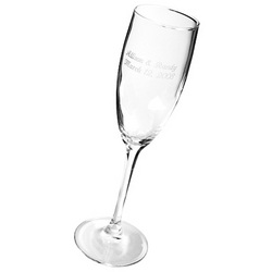 Engraved Toasting Flute Glass
