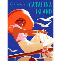 Personalized Cruise to Catalina Island Vintage Wooden Plaque