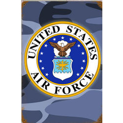 Air Force Cammo Metal Sign