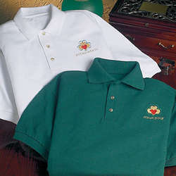 Claddagh and Shamrock Polo Shirt