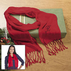 Personalized Red Scarf