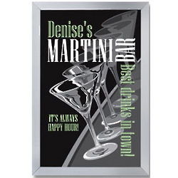 Personalized Martini Parade Bar Sign