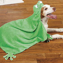 Hooded Frog Pet Towel