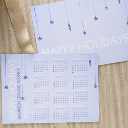 Personalized Holiday Greeting Card Calendars