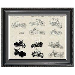 Harley-Davidson Motorcycles Framed Patent Art