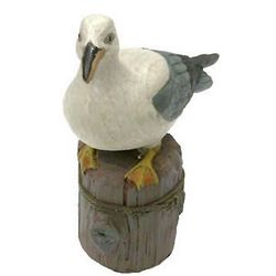 Seagull on Piling Figurine