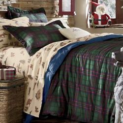 Cozy Cabin Flannel King Sheet Set
