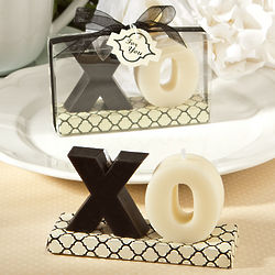 Black and White XO Candle