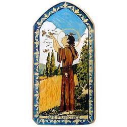 Saint Francis of Assisi Patron Saint Retablo Plaque