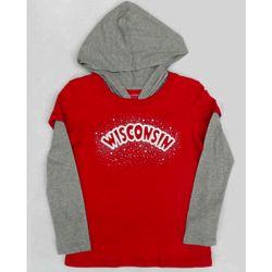 Girl's University of Wisconsin Long Sleeve Hooded T-Shirt