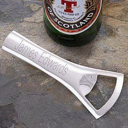 Bartender's Silver-Plated Bottle Opener