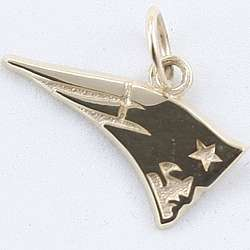 "New England Patriots 1/4"" 10KT Gold Charm"