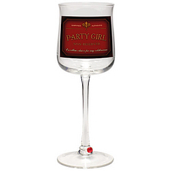 Party Girl Wine Time Wine Glass